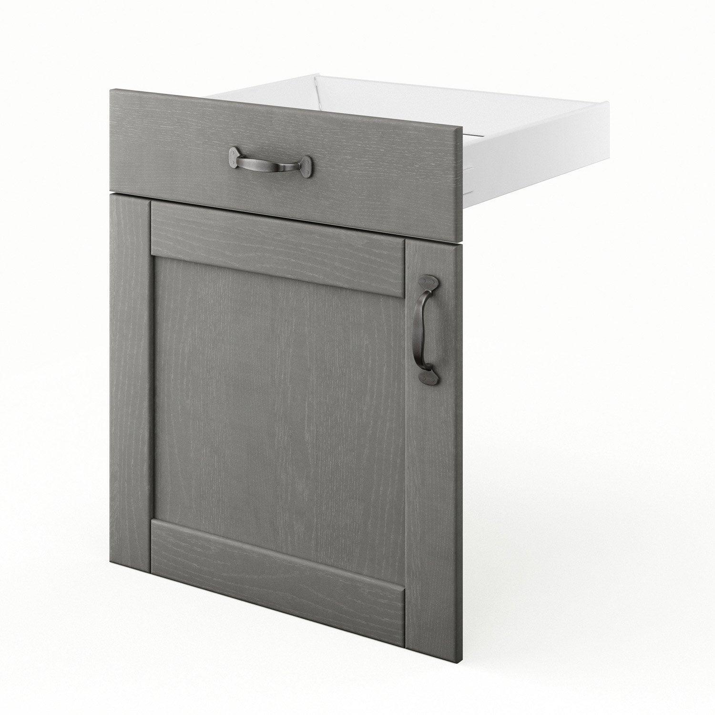 Porte et tiroir de cuisine gris shadow x x for Porte 60 x 70