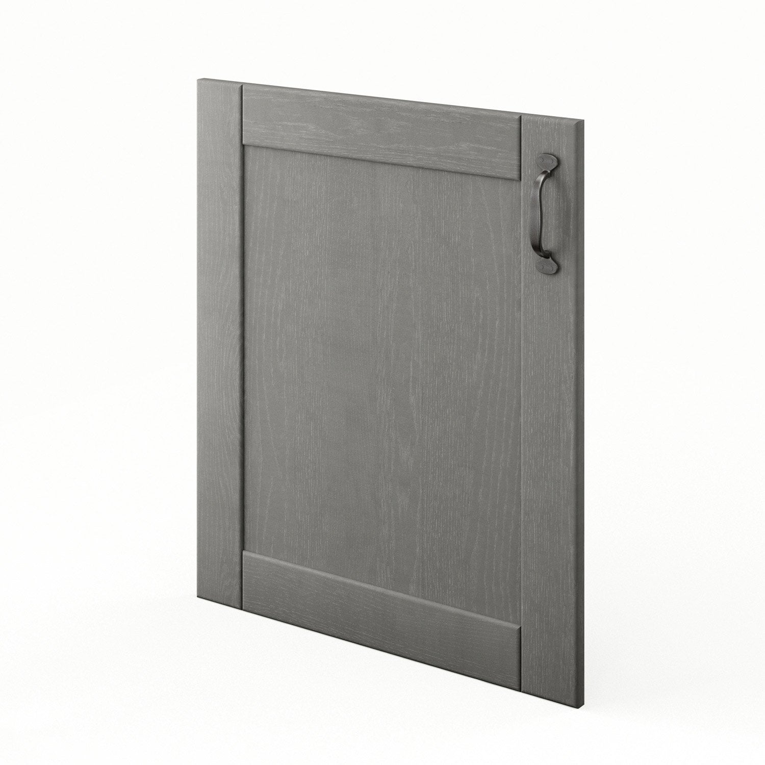Porte de cuisine gris shadow x cm leroy merlin for Porte 60 x 50