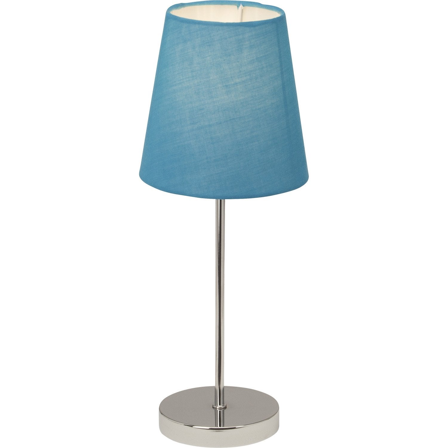 lampe tactile kasha brilliant tissu bleu 40 w leroy merlin. Black Bedroom Furniture Sets. Home Design Ideas