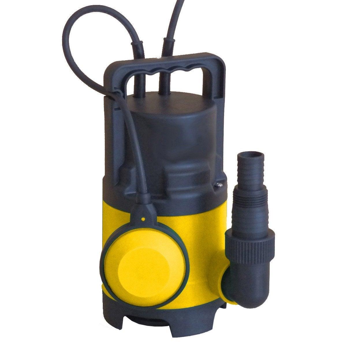 Pompe d 39 vacuation eau charg e vc400ech 8000 l h leroy merlin - Pompe a eau electrique leroy merlin ...