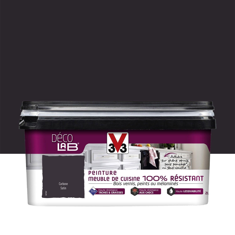 peinture meuble 100 resist v33 carbone 2 l leroy merlin. Black Bedroom Furniture Sets. Home Design Ideas