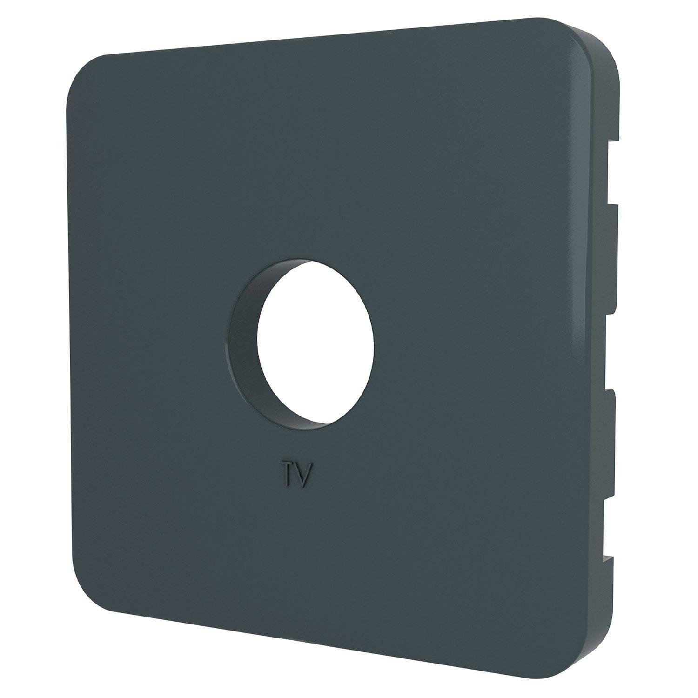 cache prise tv prise tv type f cosy lexman gris zingu n. Black Bedroom Furniture Sets. Home Design Ideas