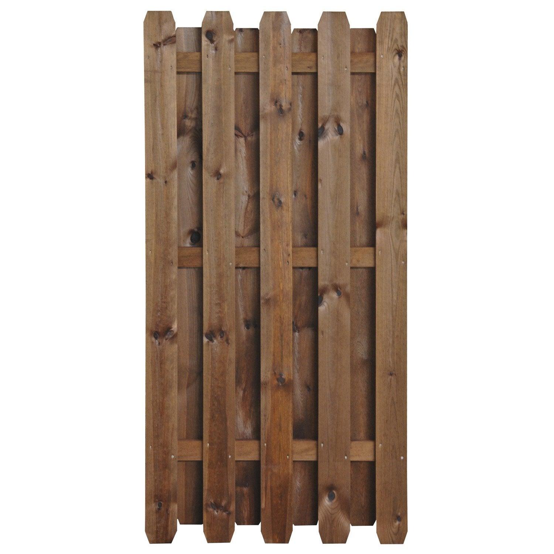 Panneau en bois droit occultant l 90 x h 180 cm marron leroy merlin - Palette bois leroy merlin ...