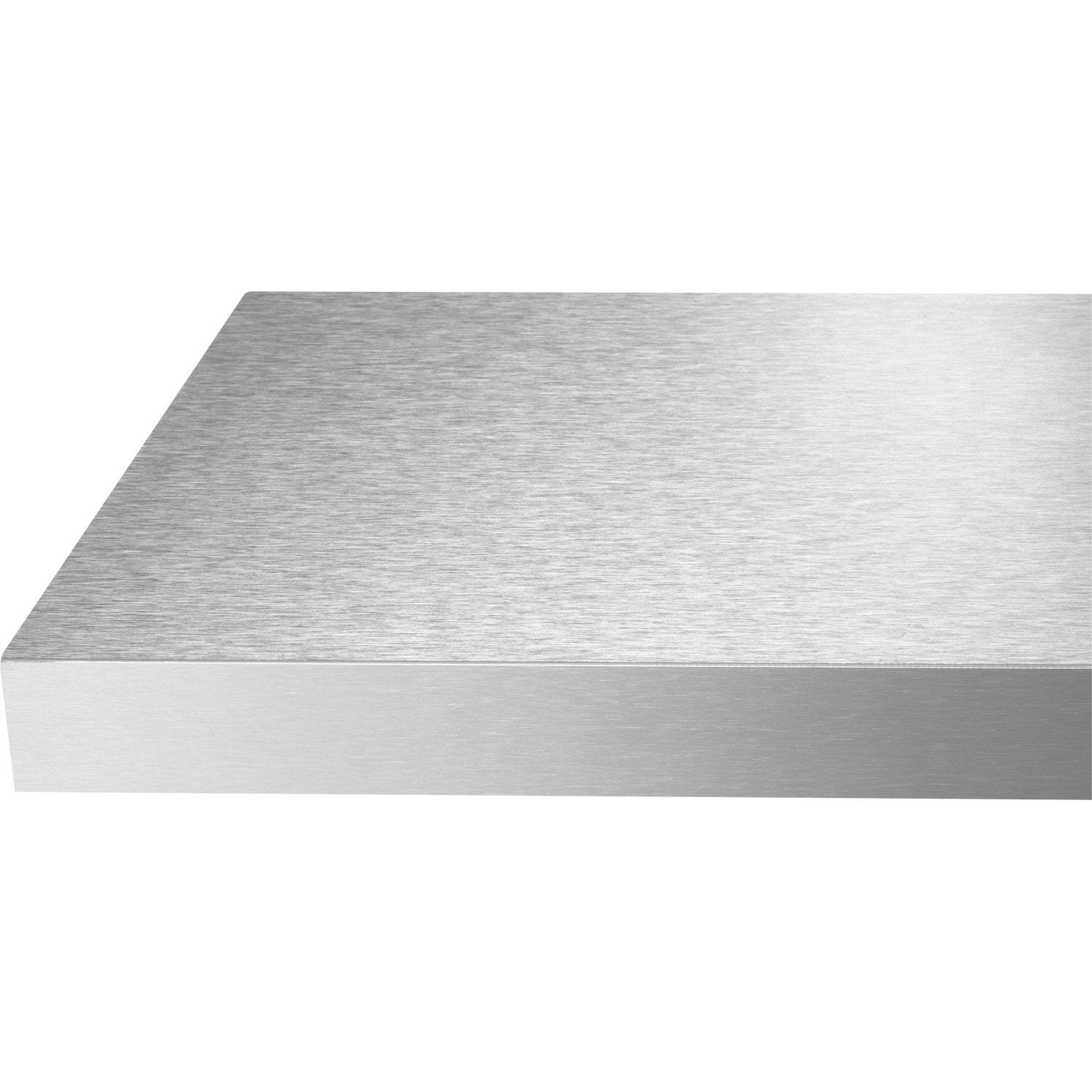 Chant de plan de travail stratifi fa on inox mat l 4 5 cm ep 1 mm leroy merlin for Plan de travail blanc laque leroy merlin