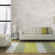 Plaquette de parement plâtre blanc nuancé Passio