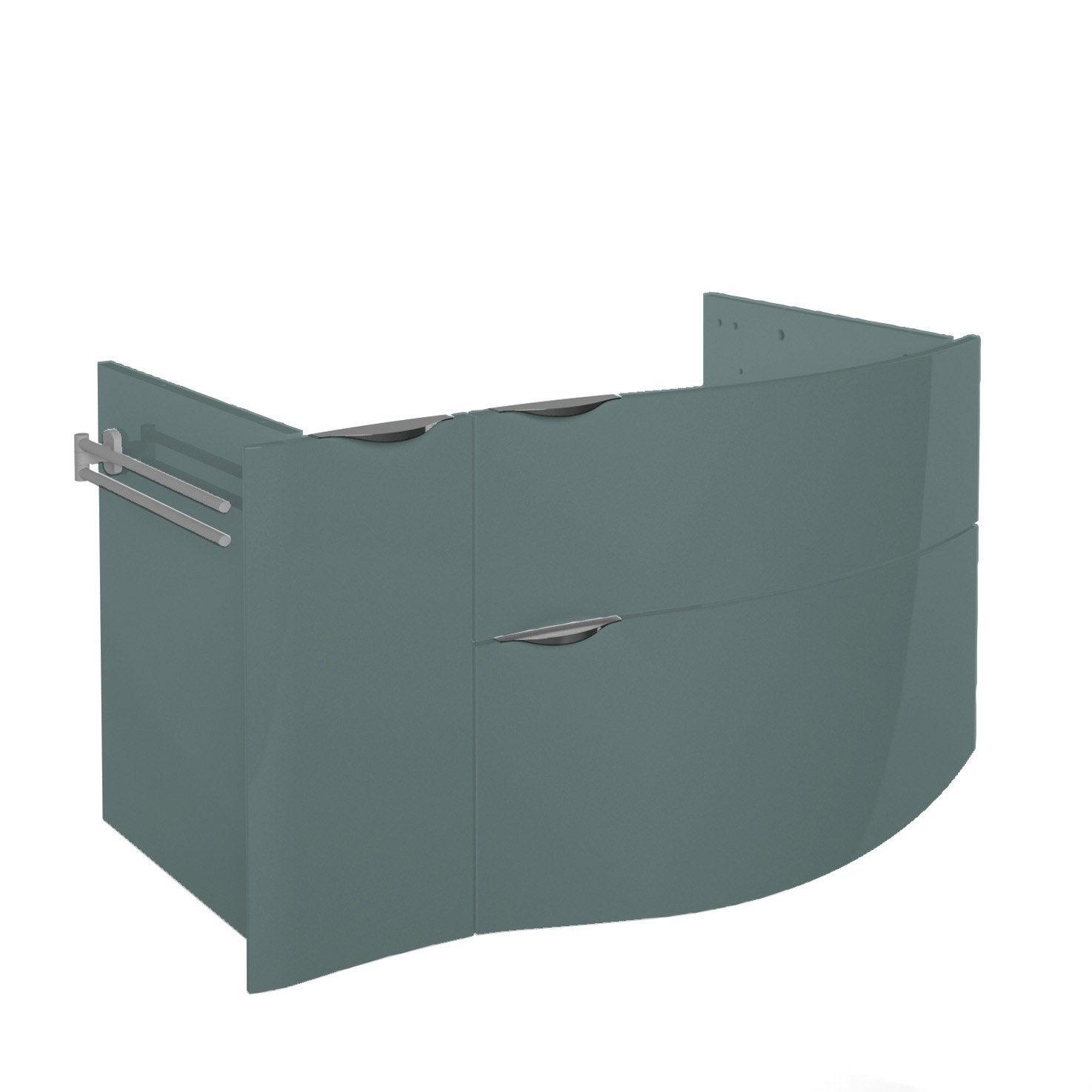 Meuble sous vasque x x cm vert for Meuble sous vasque 100 cm