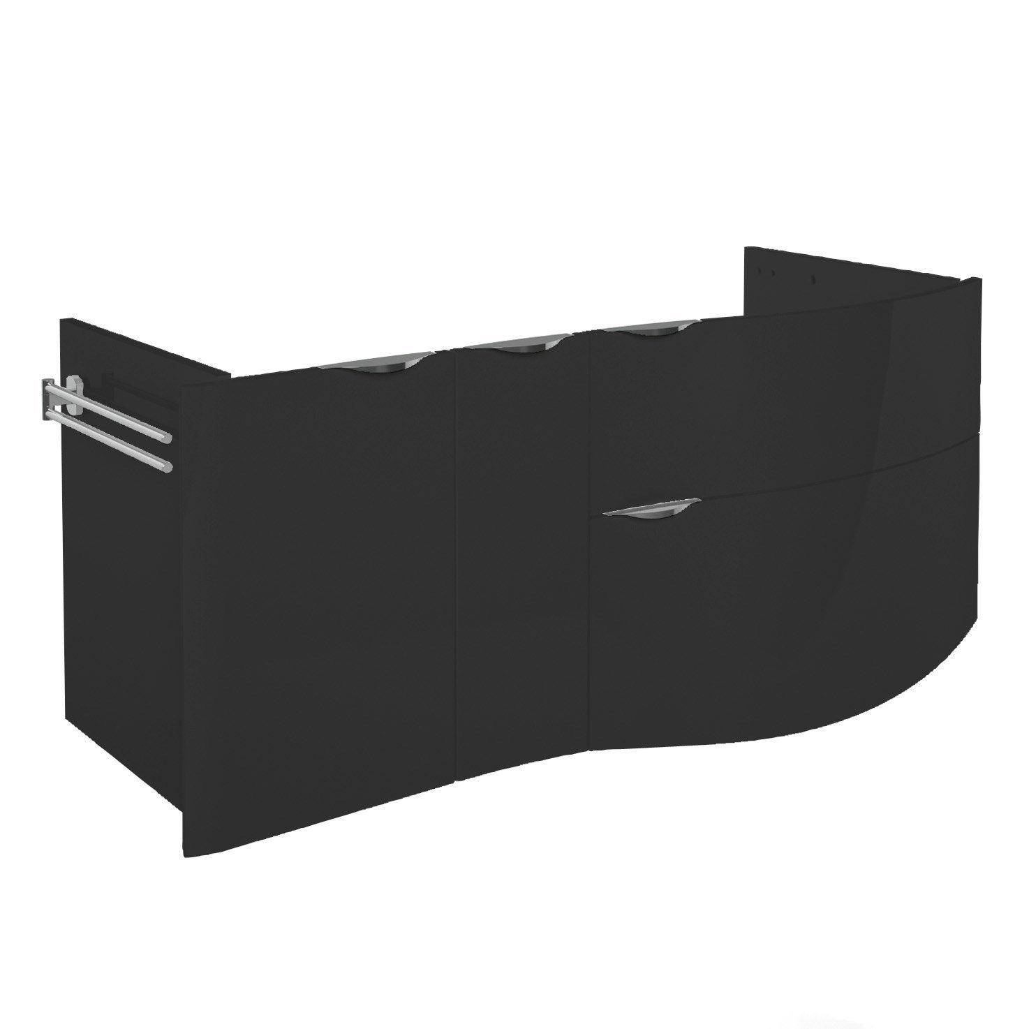 meuble sous vasque x x cm noir elegance leroy merlin. Black Bedroom Furniture Sets. Home Design Ideas