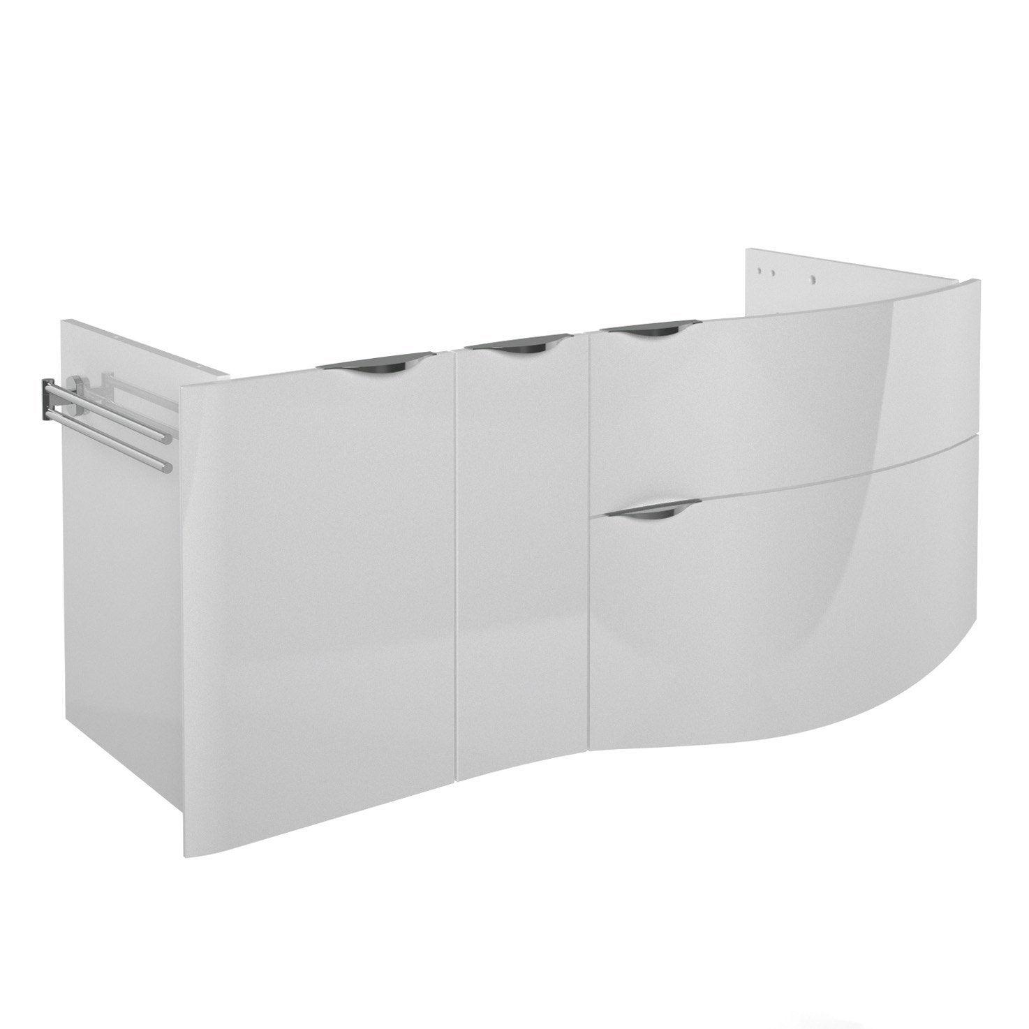 Meuble sous vasque decotec el gance blanc - Meuble sous vasque leroy merlin ...