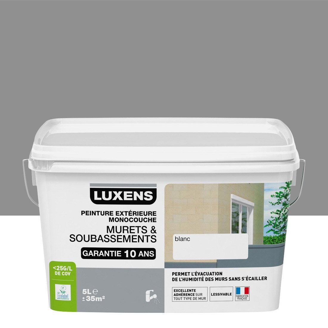Peinture muret et soubassement luxens gris galet n 3 5 l - Galet leroy merlin ...