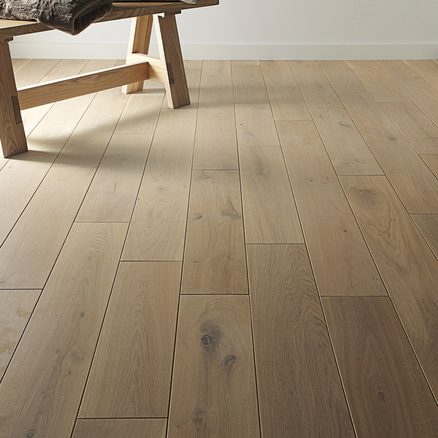 Parquet massif ch ne naturel huil xl artens solid leroy merlin - Parquet grand passage leroy merlin ...
