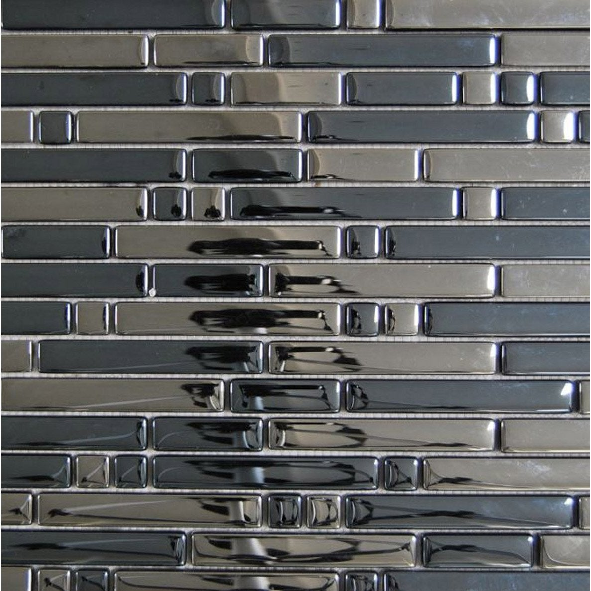 Mosa que ice tendance anthracite leroy merlin for Carrelage mosaique leroy merlin