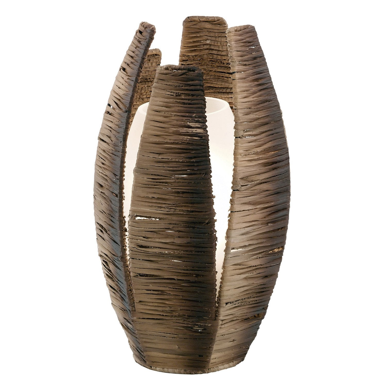 lampe mongu eglo papier marron brun 60 w leroy merlin. Black Bedroom Furniture Sets. Home Design Ideas
