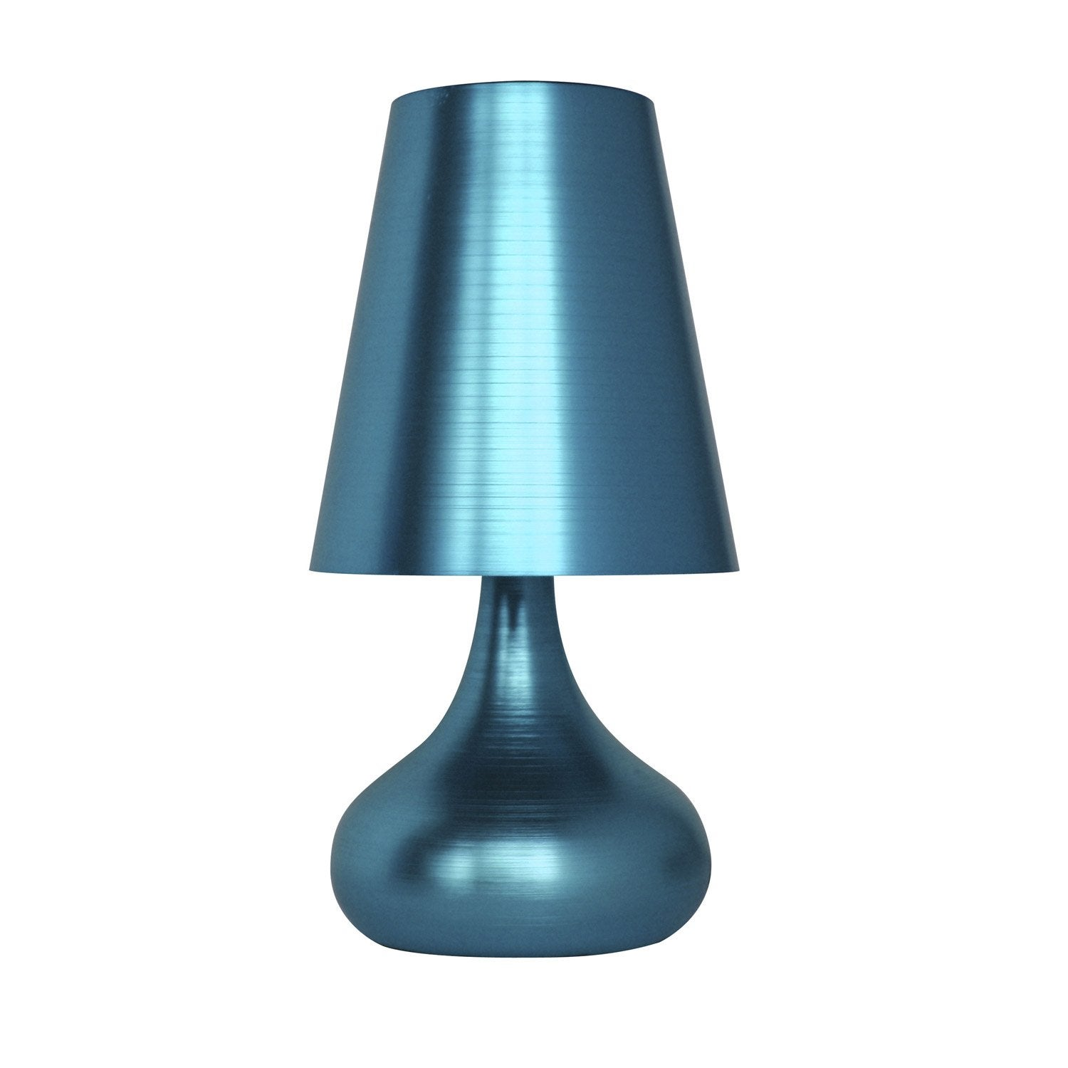 lampe touch seynave m tal bleu turquoise n 3 25 w leroy merlin. Black Bedroom Furniture Sets. Home Design Ideas