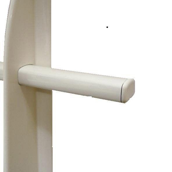 lot de 5 embouts de lisse de lisse tieral aluminium blanc h 2 8 x l 2 5 cm leroy merlin. Black Bedroom Furniture Sets. Home Design Ideas