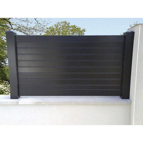 Cl ture aluminium contemporaine naterial divers coloris dispo x - Cloture jardin leroy merlin ...