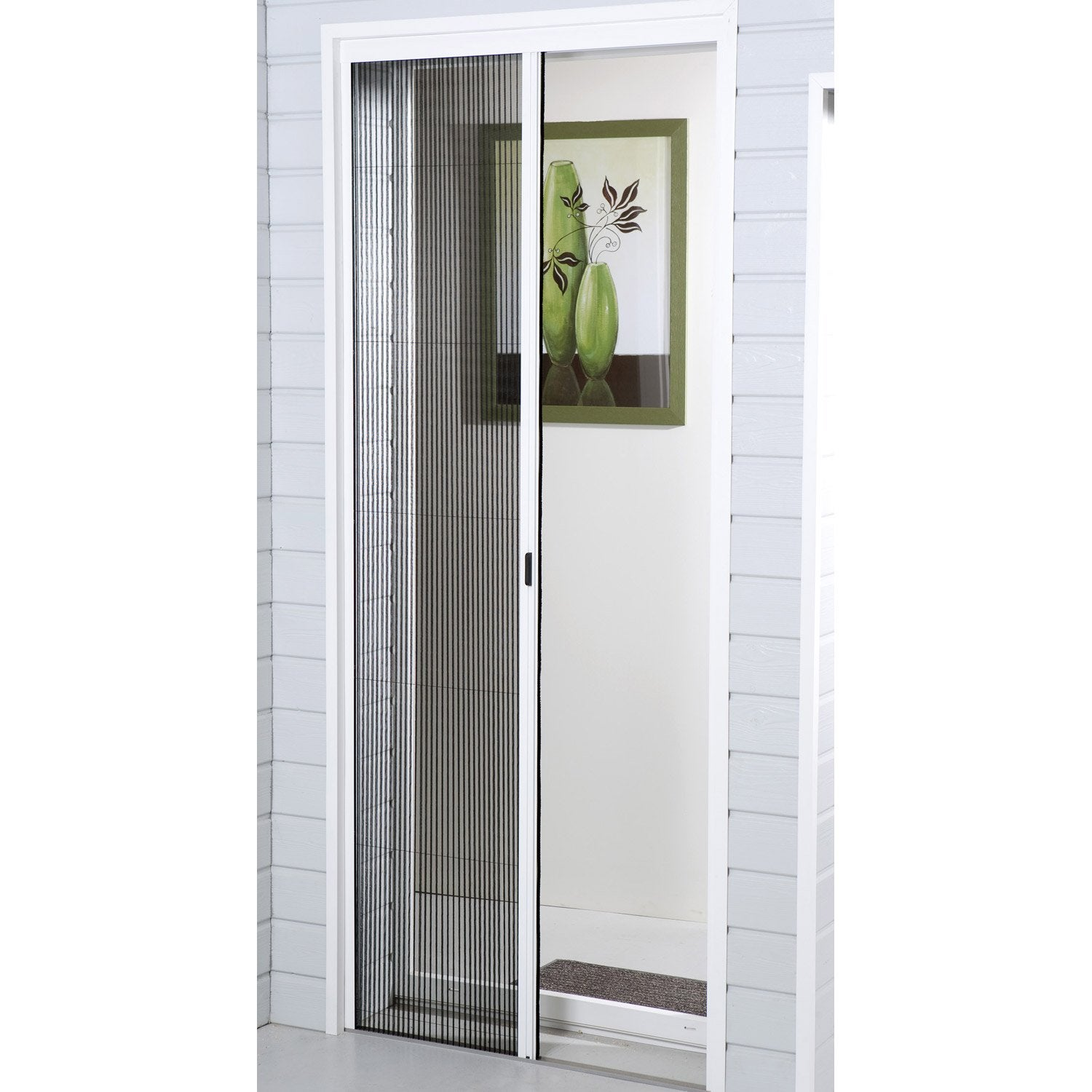 Moustiquaire porte fen tre pliss e moustikit 230x140 cm for Moustiquaire fenetre