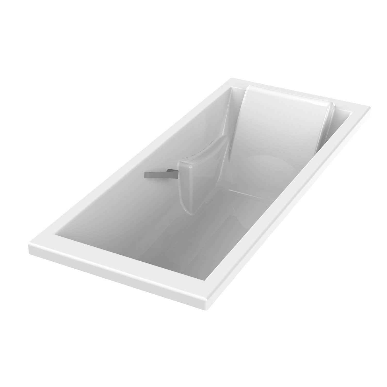 Baignoire rectangulaire cm blanc sensea - Baignoire sabot leroy merlin ...