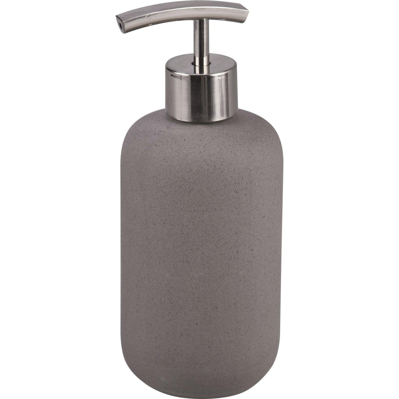 distributeur de savon c ramique oslo gris leroy merlin. Black Bedroom Furniture Sets. Home Design Ideas