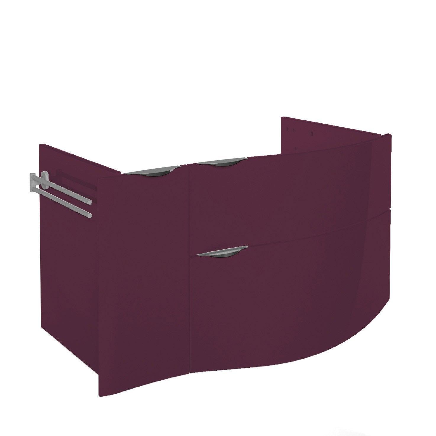 Meuble sous vasque x x cm violet for Meuble sous vasque 100 cm