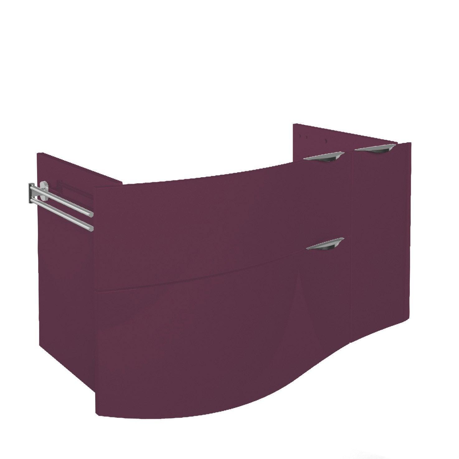 meuble sous vasque x x cm violet elegance leroy merlin. Black Bedroom Furniture Sets. Home Design Ideas