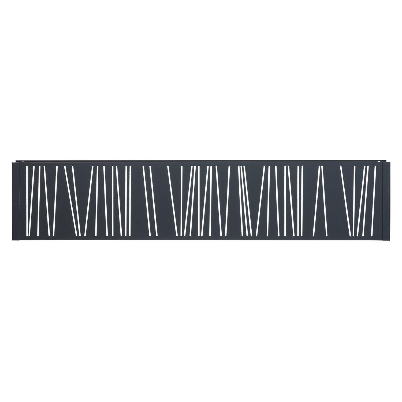 Panneau d coratif gris anthracite h 0 4 x l 1 9 m leroy for Panneau bois exterieur leroy merlin
