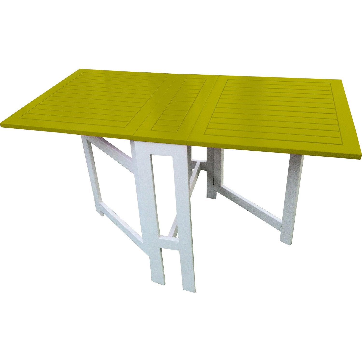 Table de jardin city green rectangulaire vert 6 personnes for Table de nuit leroy merlin
