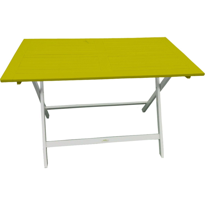 Table de jardin city green burano rectangulaire vert 4 for Table exterieur 4 personnes