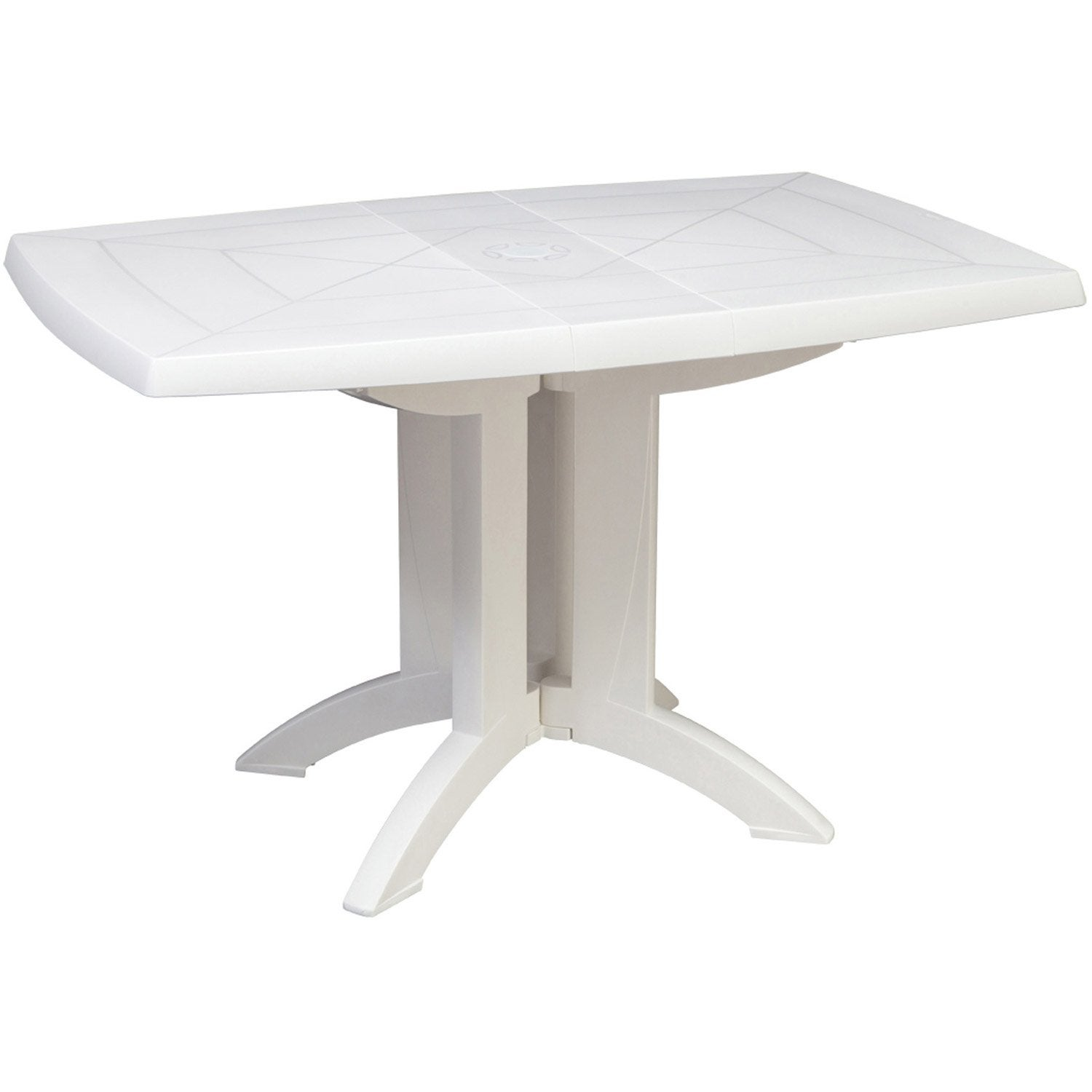 Table de jardin grosfillex v ga rectangulaire blanc 4 for Leroy merlin table jardin