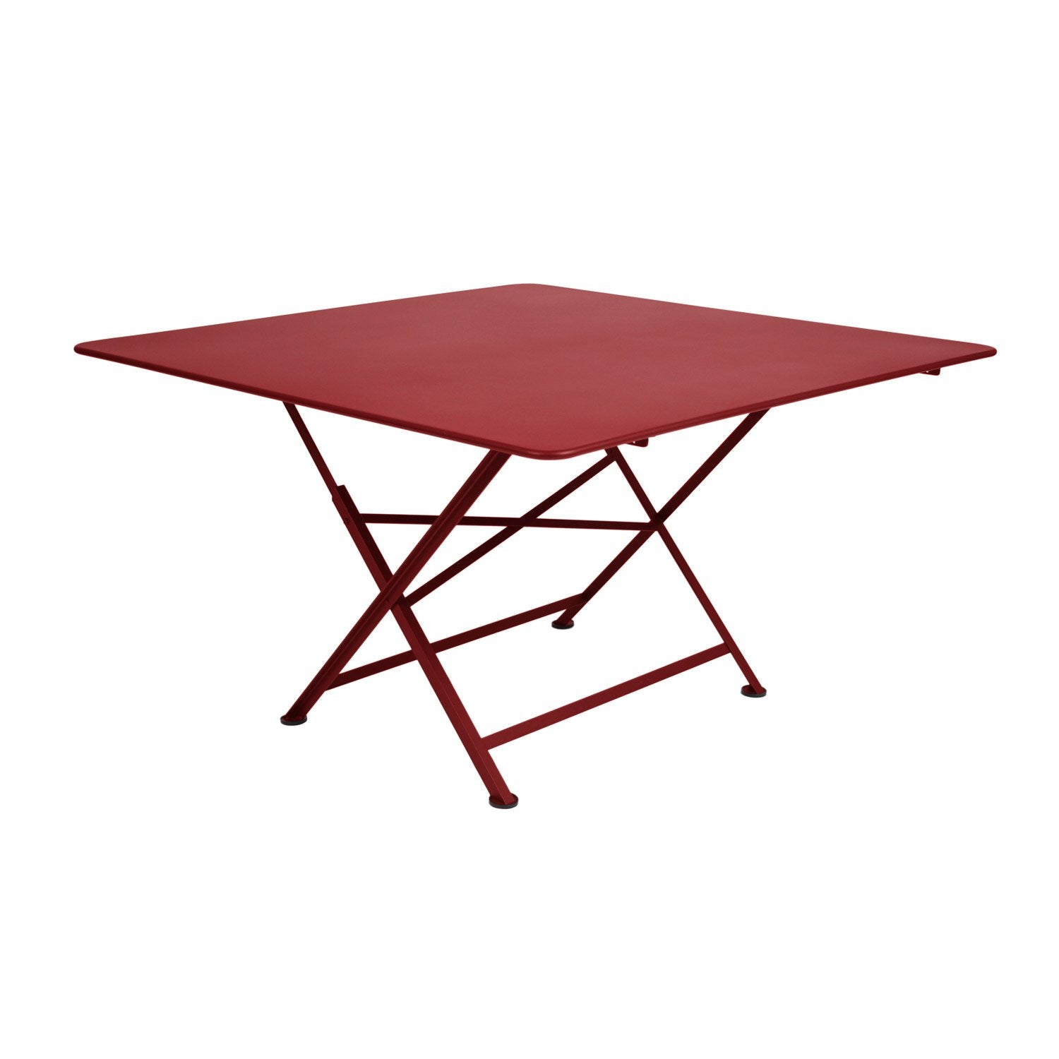 Table de jardin fermob cargo carr e piment 8 personnes for Table salon de jardin pliante