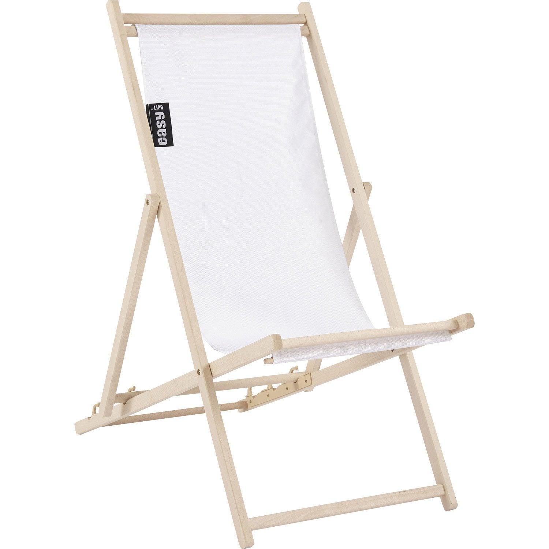 chilienne de jardin en tissu pratik blanc leroy merlin. Black Bedroom Furniture Sets. Home Design Ideas