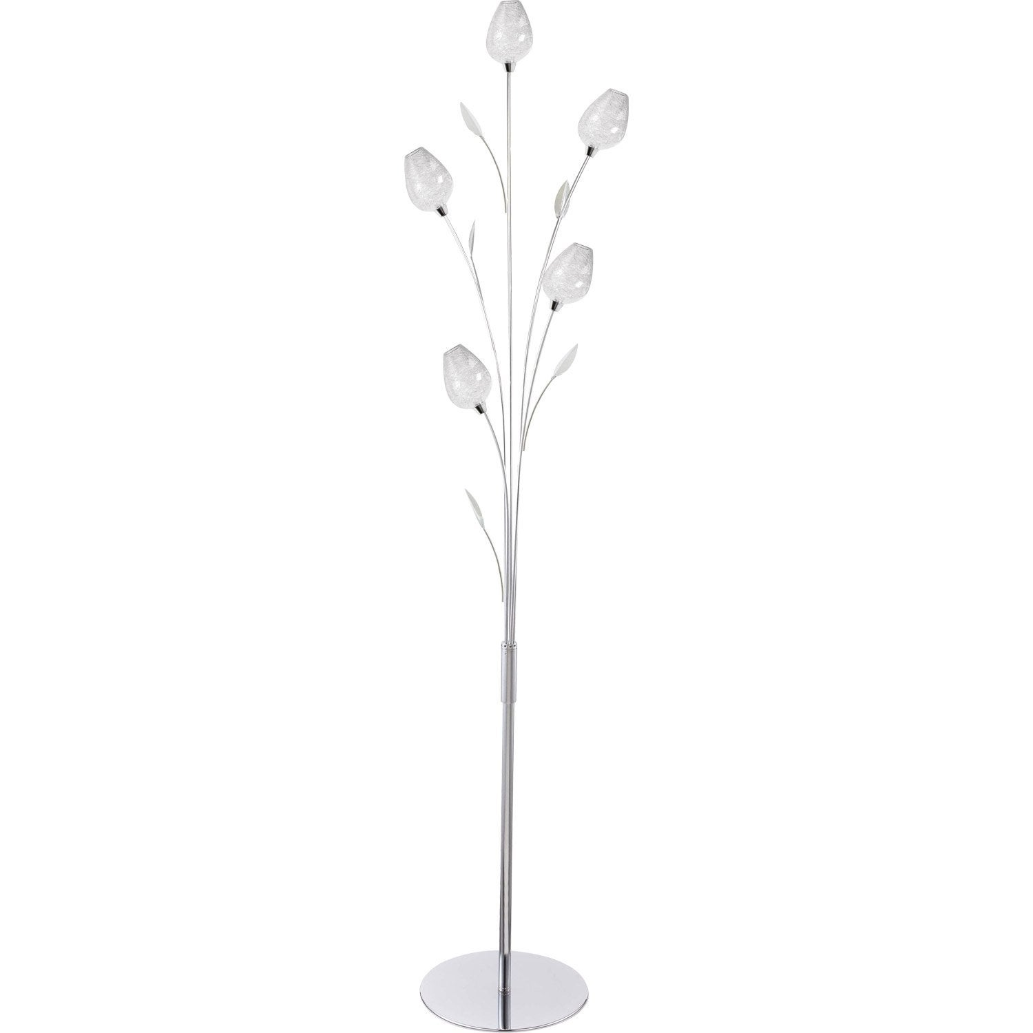 Lampadaire floriane 153 cm transparent 28 w leroy merlin for Luminaire exterieur design leroy merlin