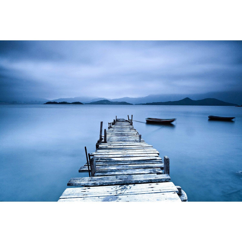 Toile led ponton et 2 barques x cm leroy merlin - Tableau toile leroy merlin ...