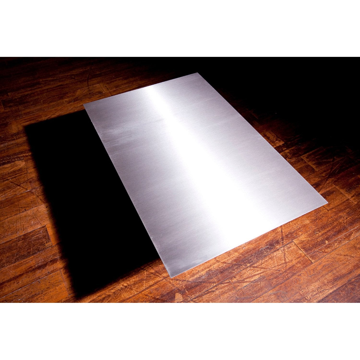 Plaque de protection sol inox satin inox equation - Plaque autocollante cuisine ...