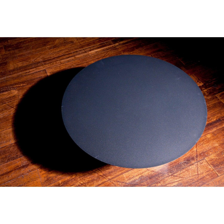 plaque de protection sol en acier laqu poxy equation noir sabl cm leroy merlin. Black Bedroom Furniture Sets. Home Design Ideas