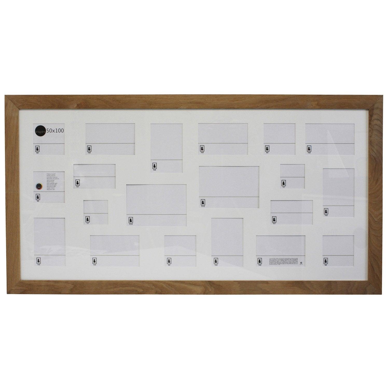 cadre nakato 50 x 100 cm ch ne clair leroy merlin. Black Bedroom Furniture Sets. Home Design Ideas