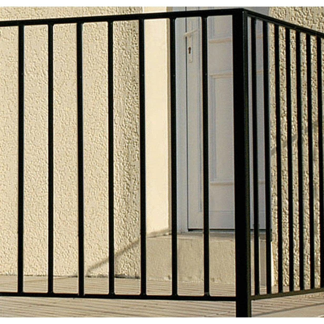 Garde corps pour balcon en fer pr peint levant haut 97cm x larg 146cm le - Barriere escalier leroy merlin ...