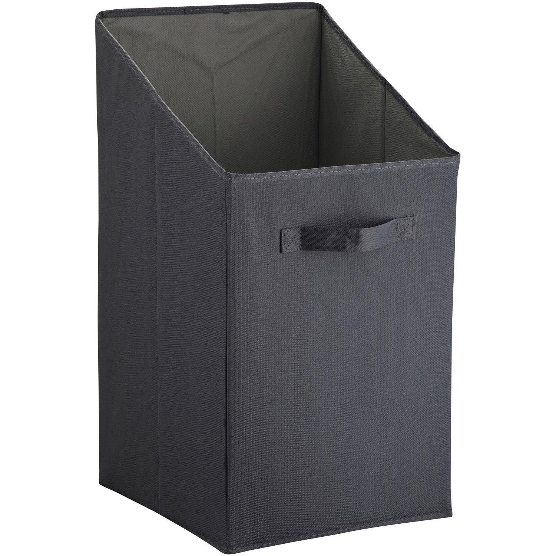 panier linge malin sensea gris gris n 1 x x cm leroy merlin. Black Bedroom Furniture Sets. Home Design Ideas