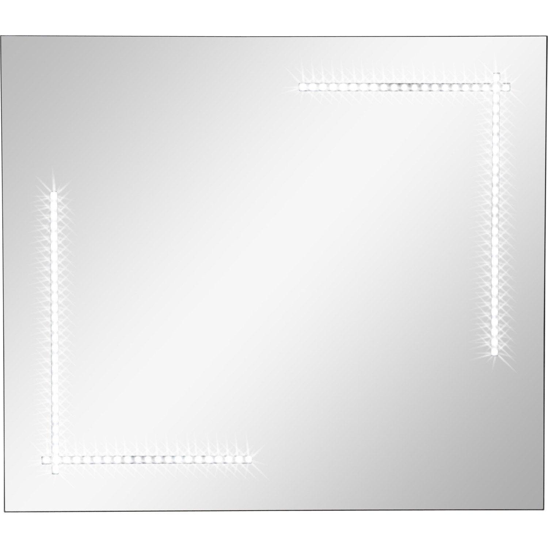 Miroir lumineux r tro clair par led clara sensea x for Miroir lumineux leroy merlin