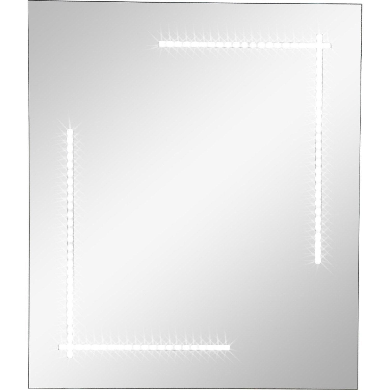 Miroir lumineux r tro clair par led clara sensea x for Miroir lumineux 50 x 70