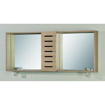 Armoire de toilette Batik, L120xH50.5xP16 cm