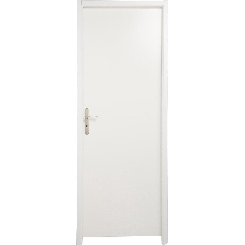 Bloc porte m dium mdf borgo blanc blanc n 0 x l for Porte 73 ou 83