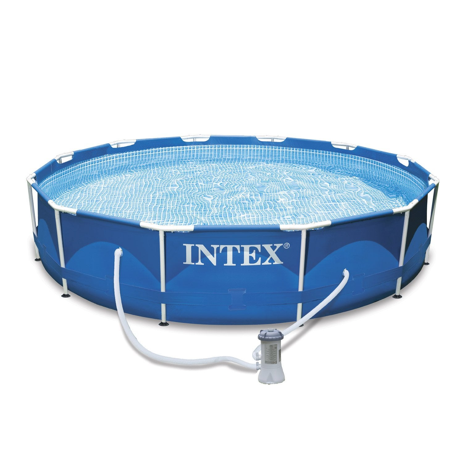 Piscine hors sol autoportante tubulaire 305x76 cm intex for Pompe piscine hors sol leroy merlin
