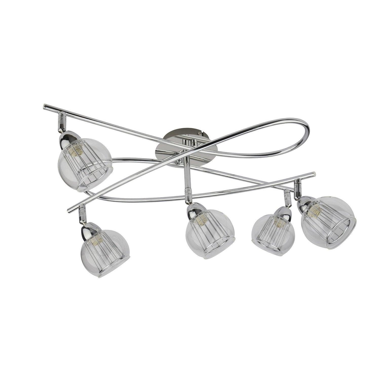spirale 5 spots sans ampoule 5 x g9 chrome java inspire leroy merlin. Black Bedroom Furniture Sets. Home Design Ideas