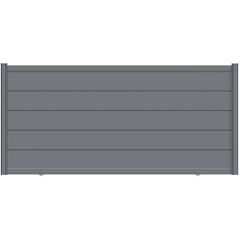portail coulissant aluminium hezo gris naterial cm. Black Bedroom Furniture Sets. Home Design Ideas