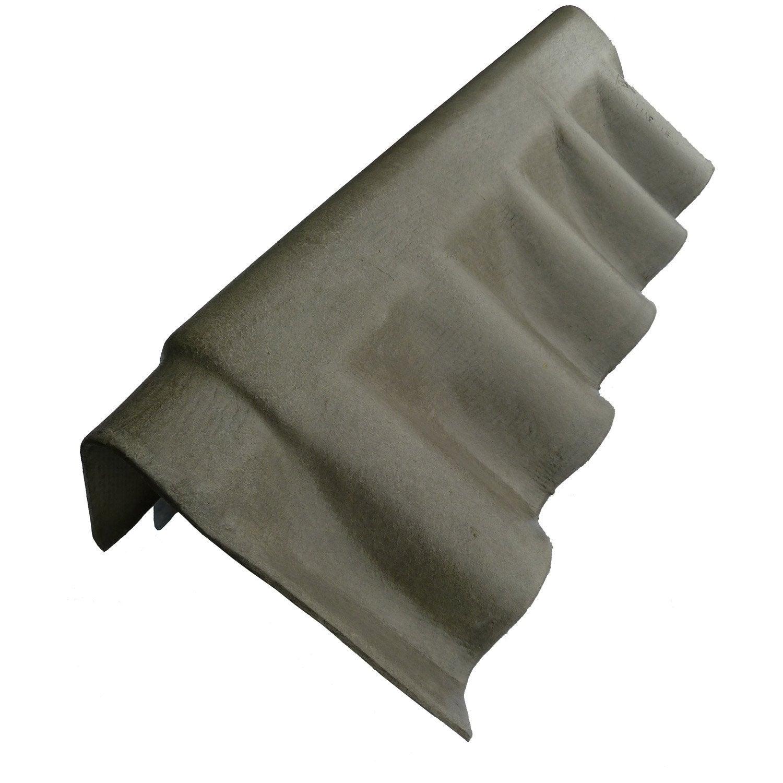 Rive pour fibrociment gris l m leroy merlin for Plaque de ciment pour sol