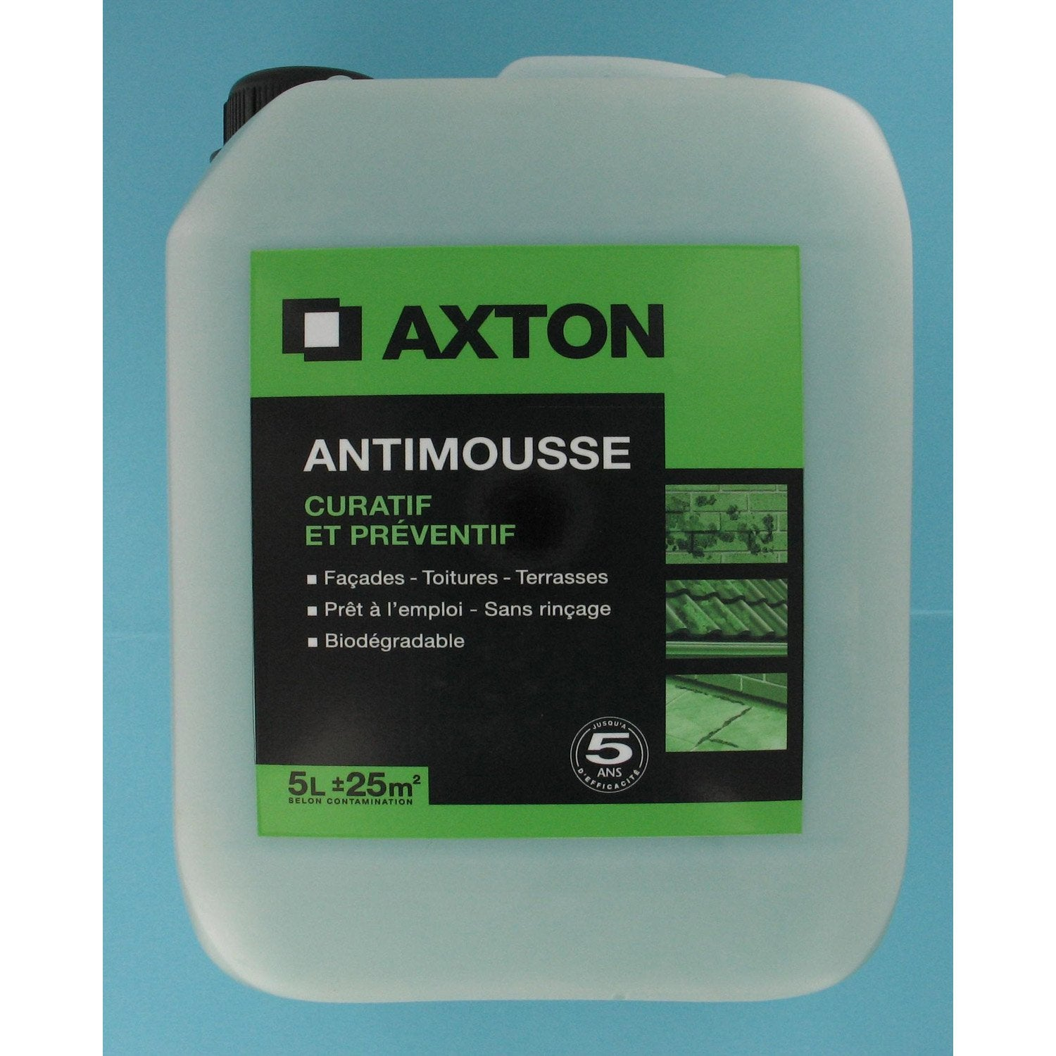 Antimousse axton pr t l 39 emploi 5 l leroy merlin for Bayer jardin anti mousse