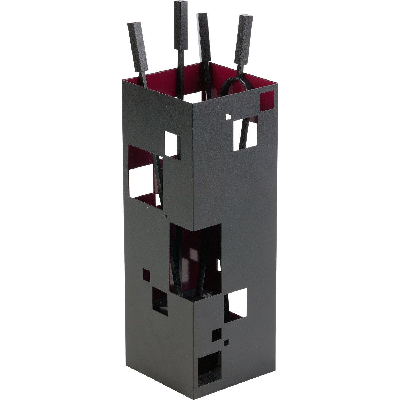 serviteur acier noir et rouge atelier dix neuf city 4 accessoires leroy merlin. Black Bedroom Furniture Sets. Home Design Ideas