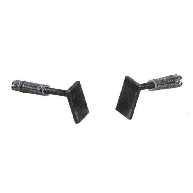 2 pattes de fixation acier lemarquier pour plaque de fonte pqf840 leroy merlin - Plaque fonte leroy merlin ...