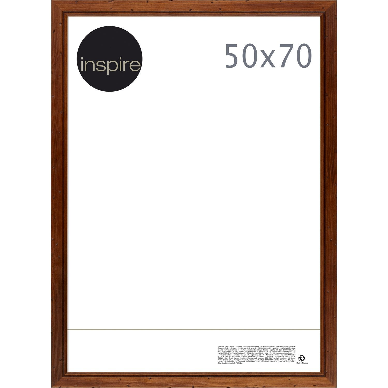 cadre saranca 50 x 70 cm marron leroy merlin. Black Bedroom Furniture Sets. Home Design Ideas