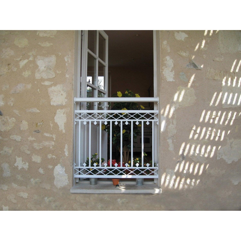 garde corps pour balconnet en aluminium laqu arizona haut 93cm x larg 80cm leroy merlin. Black Bedroom Furniture Sets. Home Design Ideas